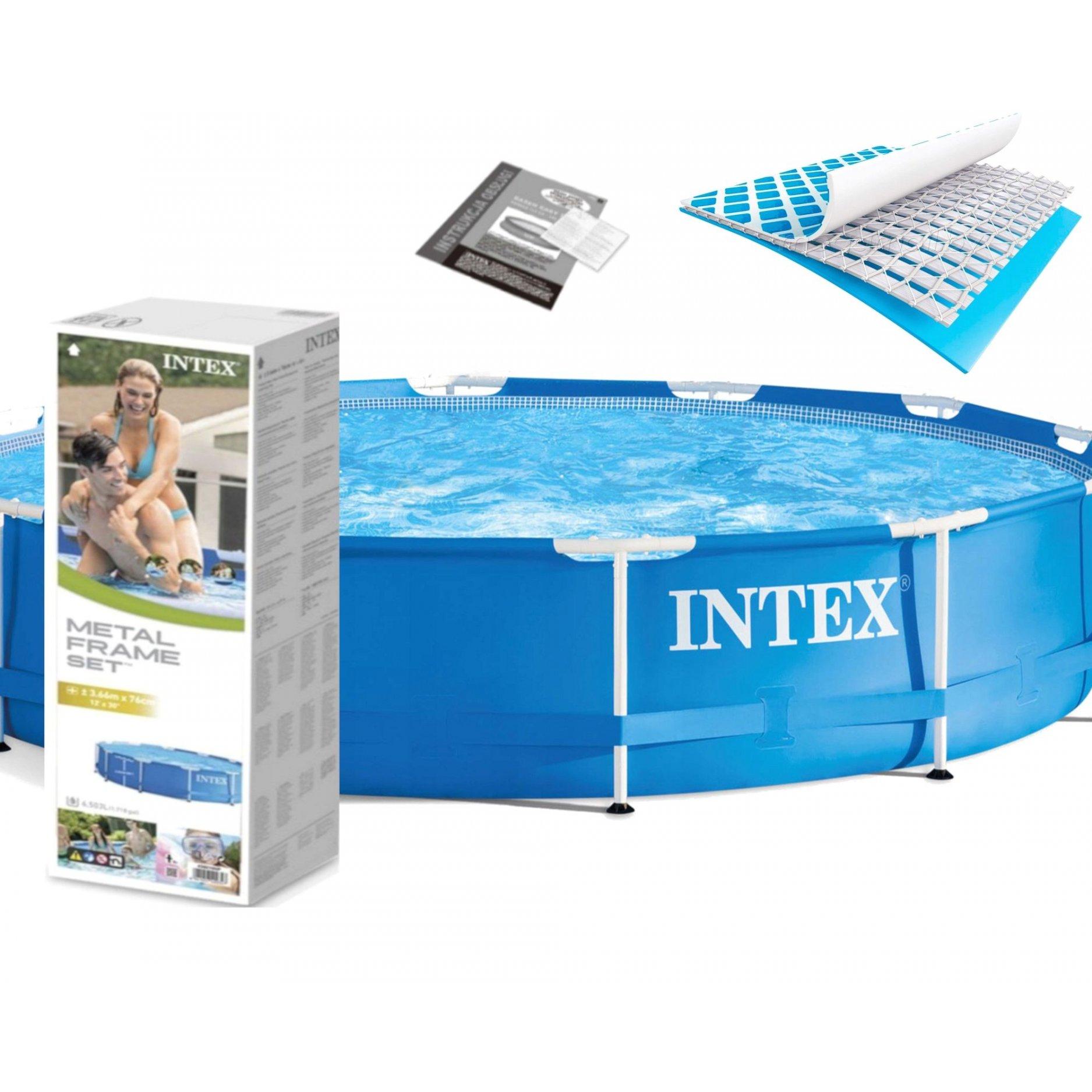 Каркасный бассейн INTEX Metal Frame 3,66 х 0,76 (м), 6503(л)