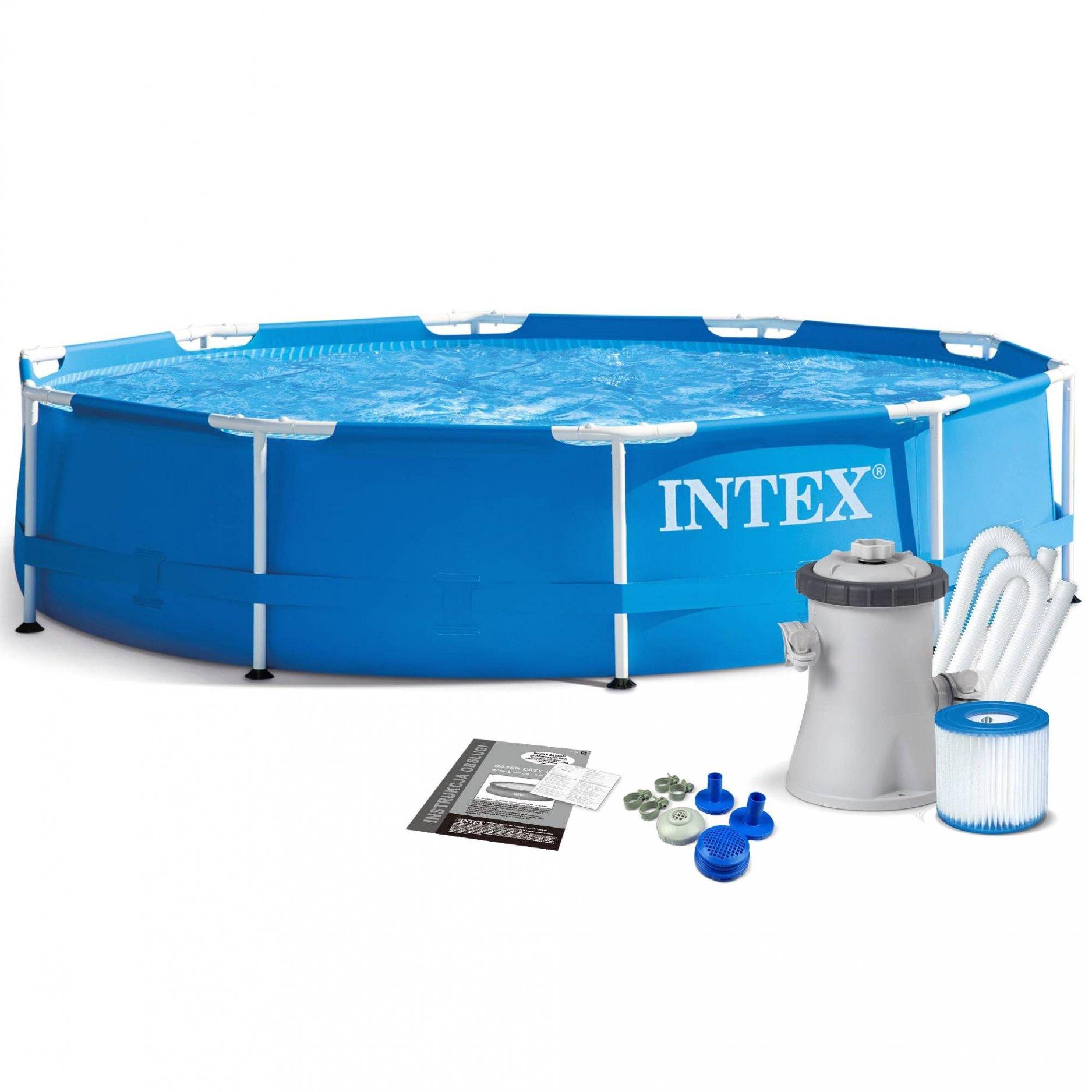 Каркасный бассейн INTEX Metal Frame 3,66 х 0,76 (м.) (+Фильтр-насос 220в.)