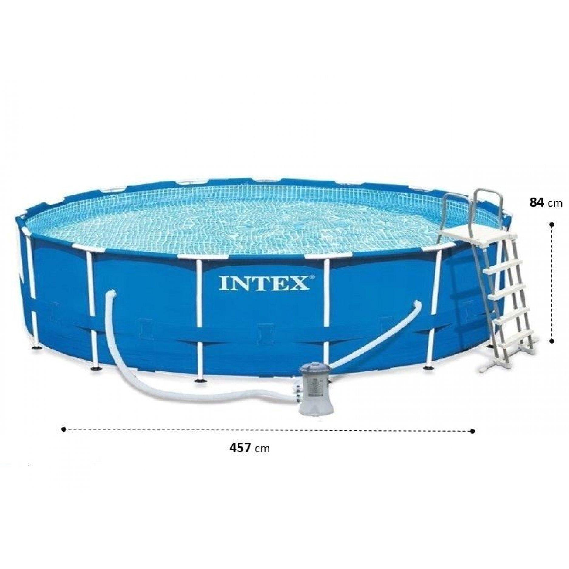 Каркасный бассейн INTEX Metal Frame 4,57х0,84(м), 11325(л)