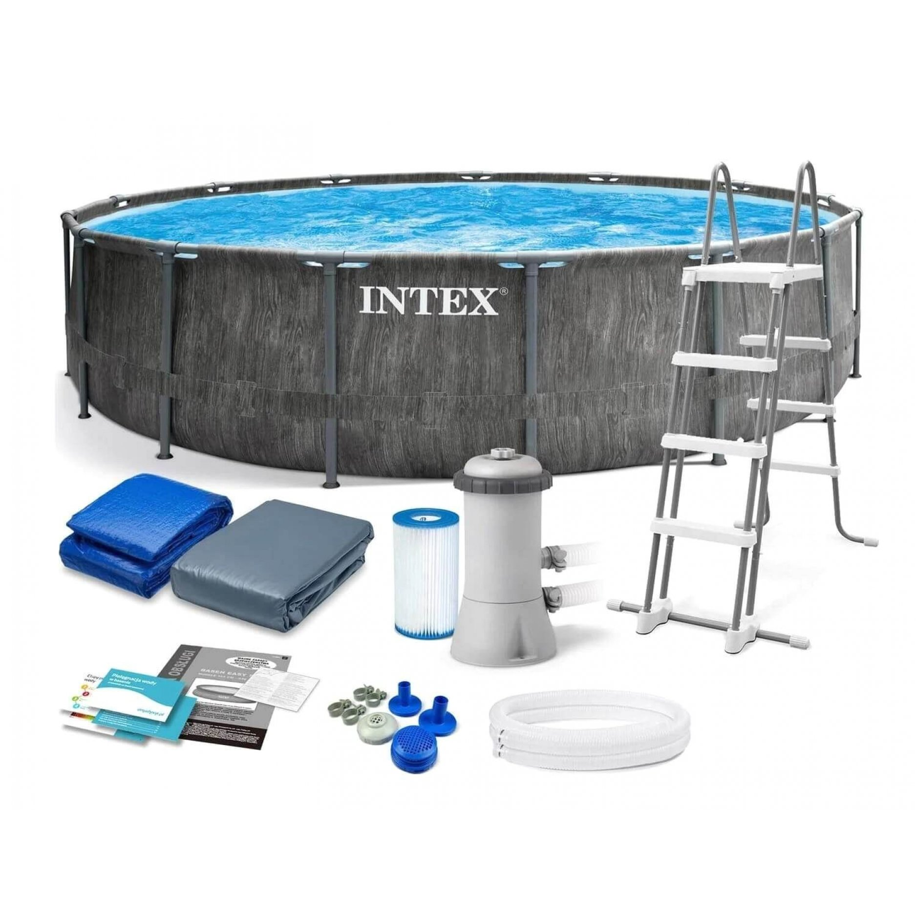 Каркасный бассейн INTEX Prism Frame Premium 4.57 х 1.22 м