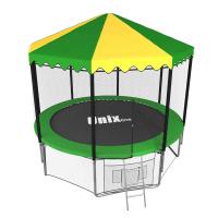 Батут UNIX line 8 ft с наружной сеткой (зеленый)