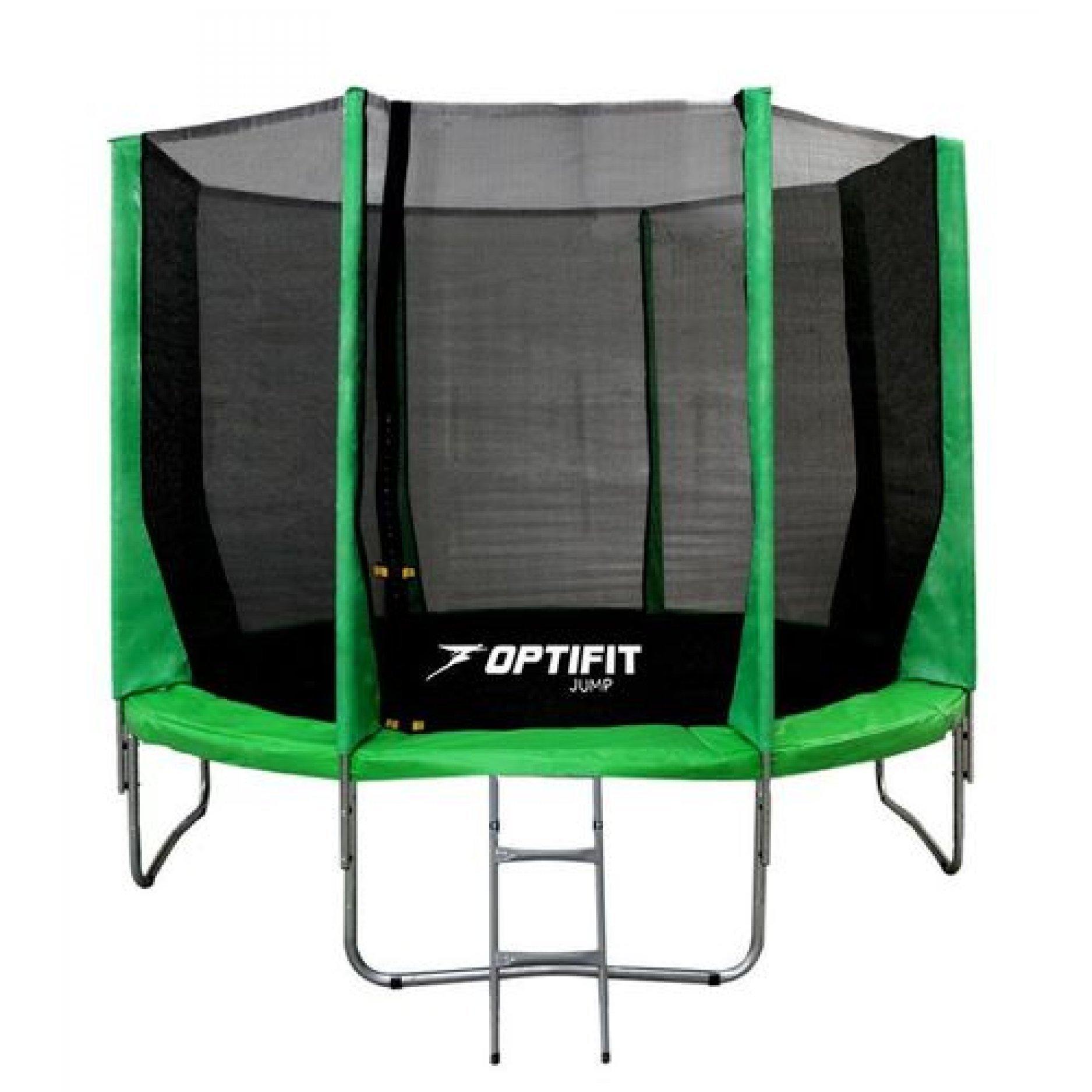 Батут OPTIFIT JUMP 14FT зеленый