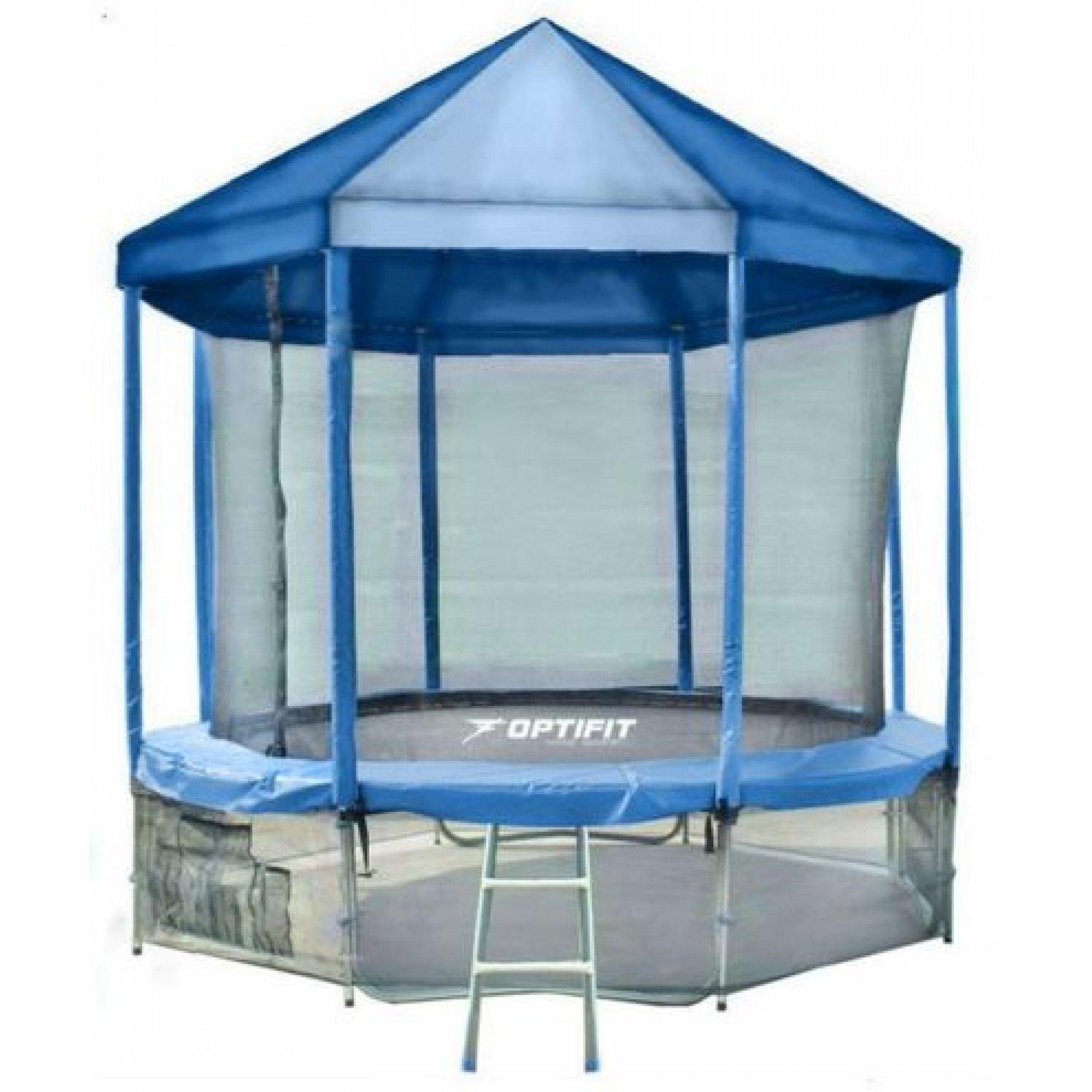 Батут Optifit Like Blue 10ft с синей крышей