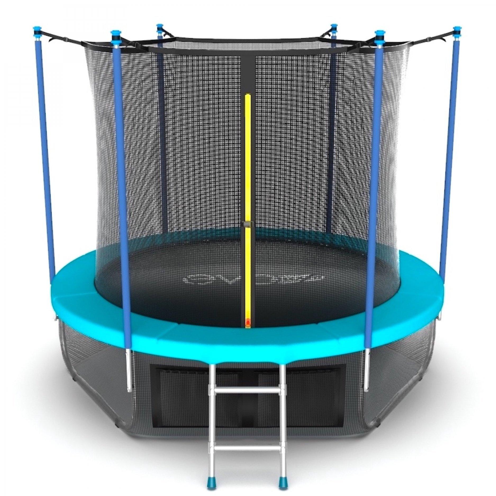 EVO JUMP Internal 6ft (Wave) с внутренней сеткой и лестницей + нижняя сеть