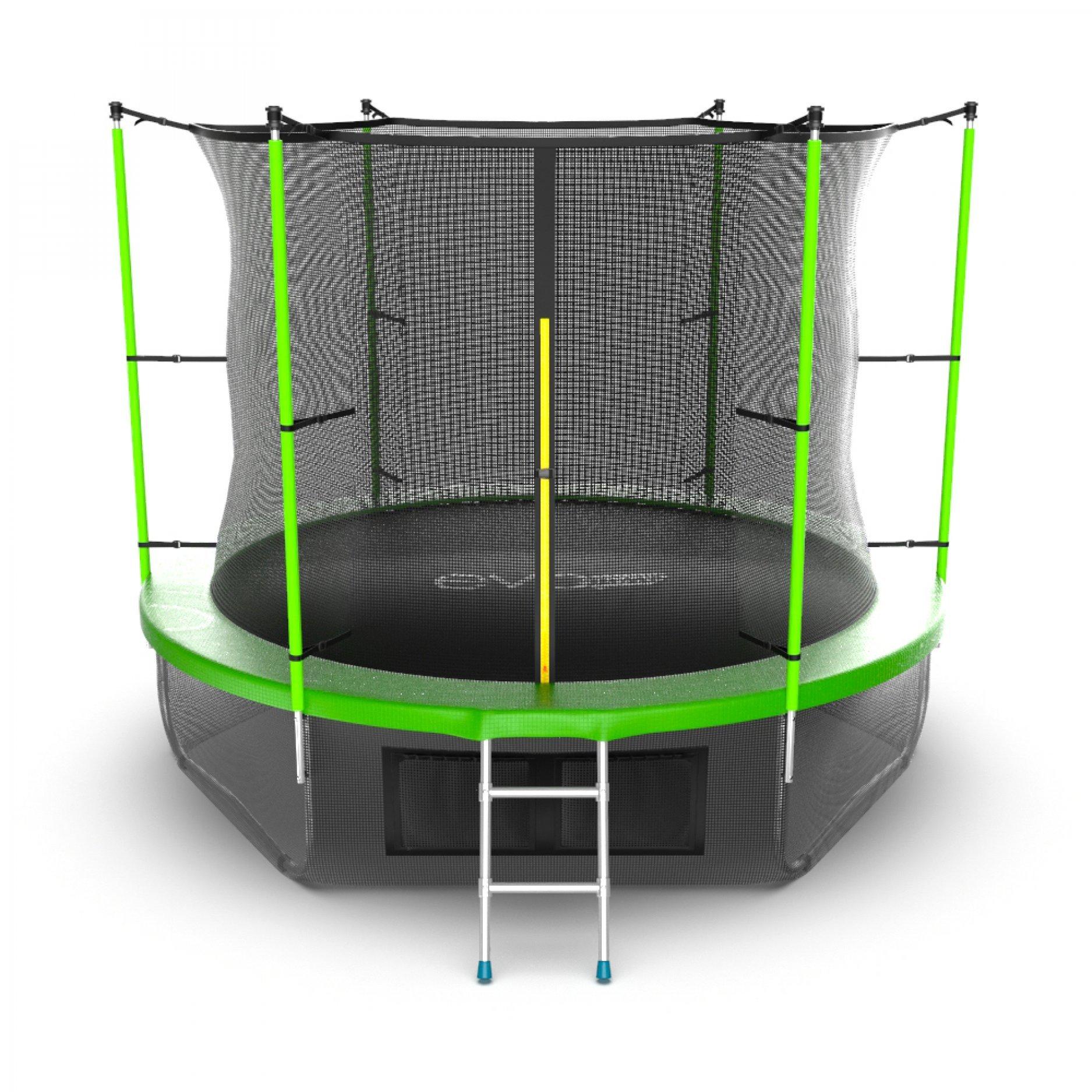 EVO JUMP Internal 10ft (Green) + Lower net с внутренней сеткой и лестницей + нижняя сеть