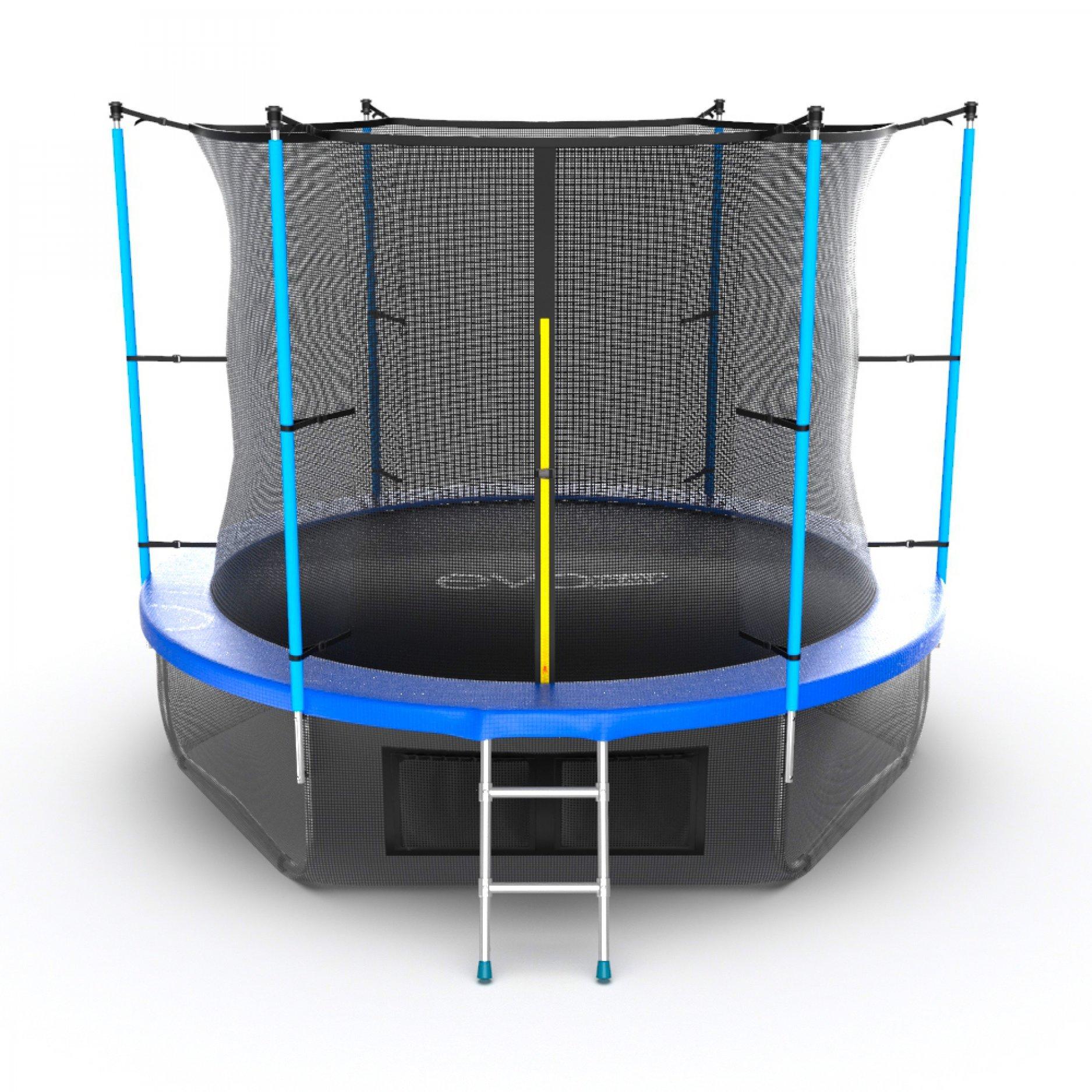 EVO JUMP Internal 10ft (Blue) + Lower net с внутренней сеткой и лестницей + нижняя сеть