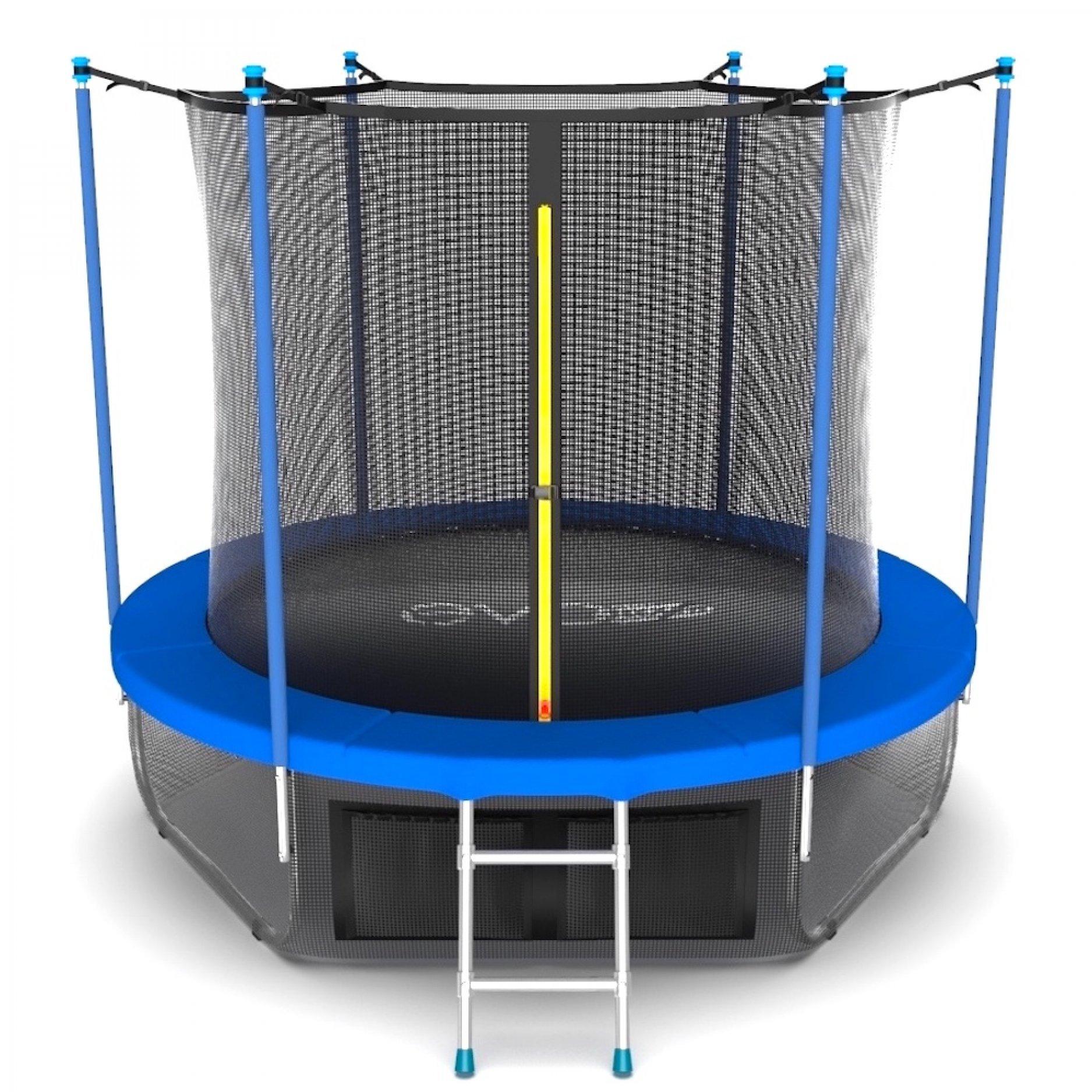 EVO JUMP Internal 10ft (Sky) с внутренней сеткой и лестницей + нижняя сеть