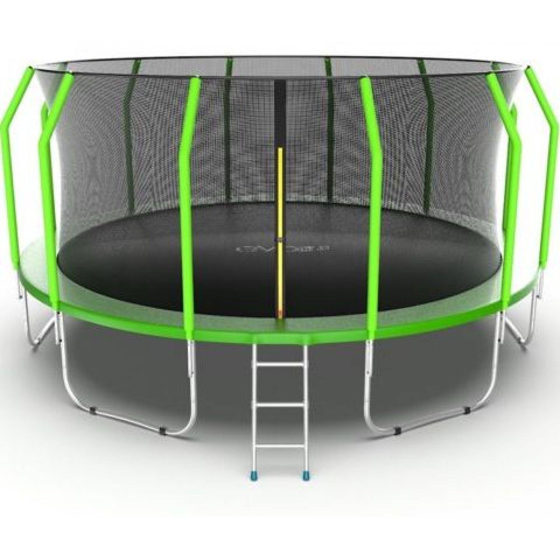 Батут EVO Jump Cosmo 16ft (Green) + Lower net. с внутренней сеткой и лестницей