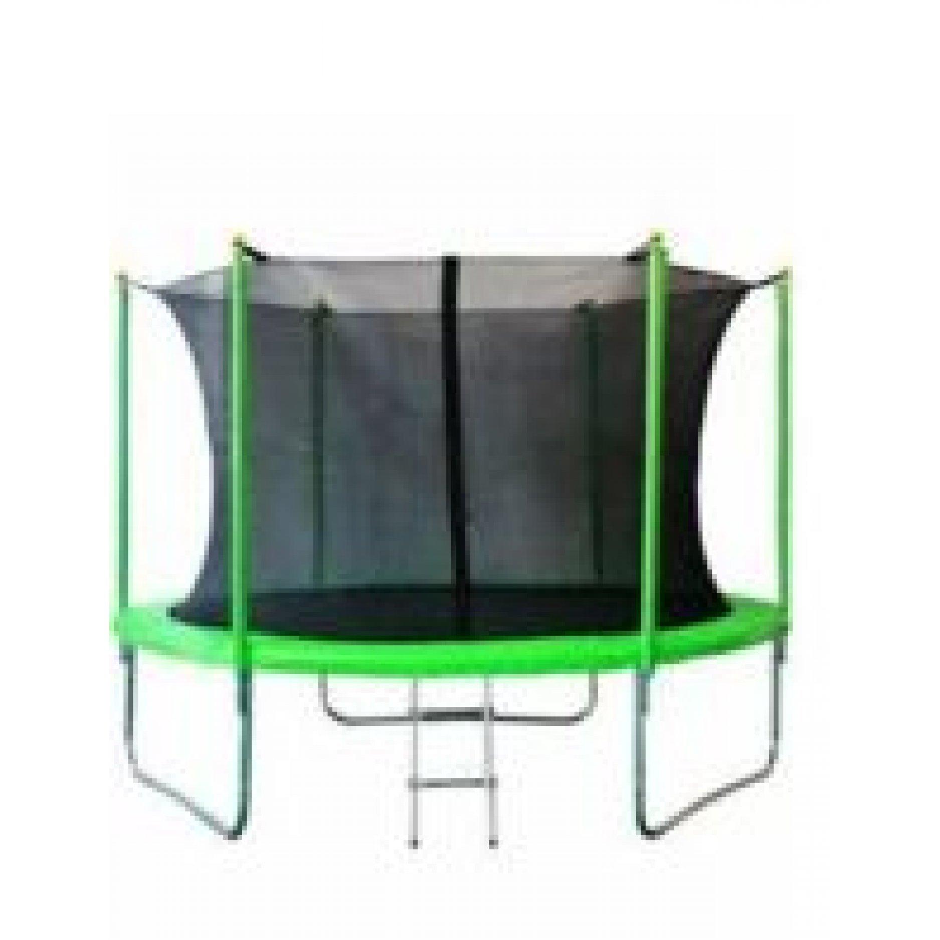 Батут JUNHOP 8 Комплект с защитной сетью и лестницей зеленый