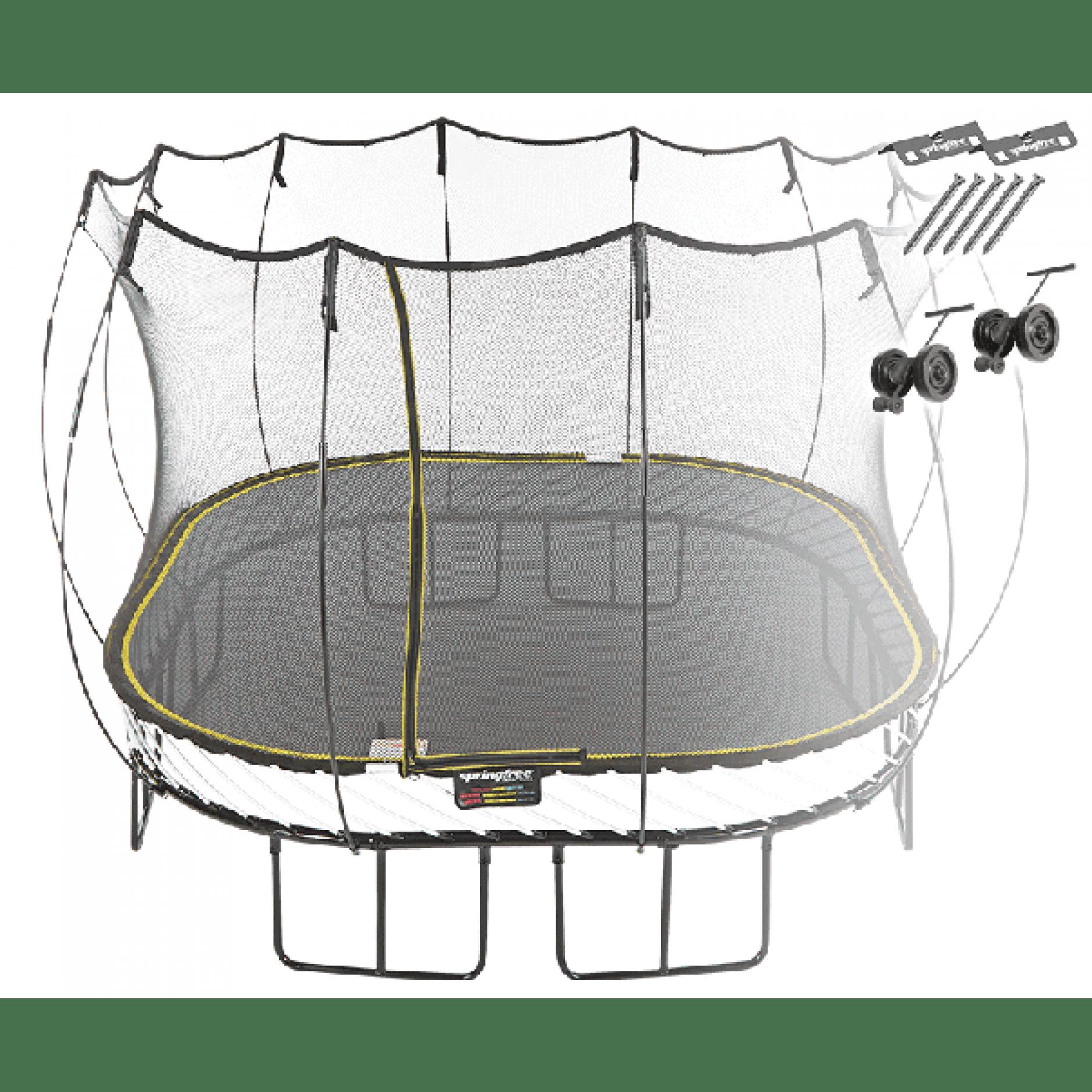 Батут квадратный Springfree S113 AW с фиксаторами и колесиками