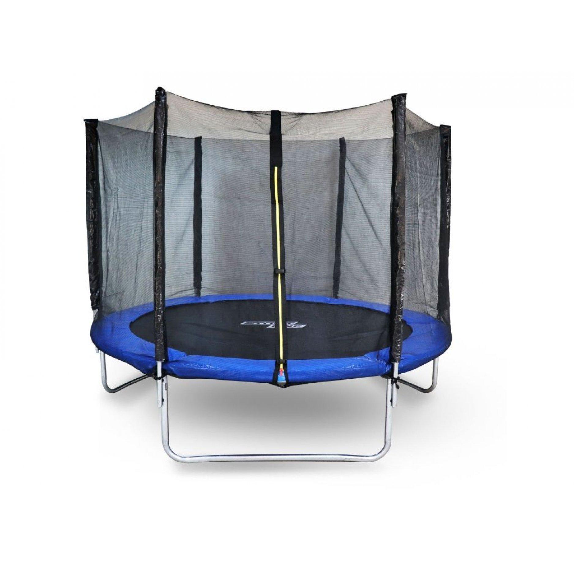 Батут StartLine Fitness 10 футов (305 см) СКЛАДНОЙ с внешней сеткой и лестницей