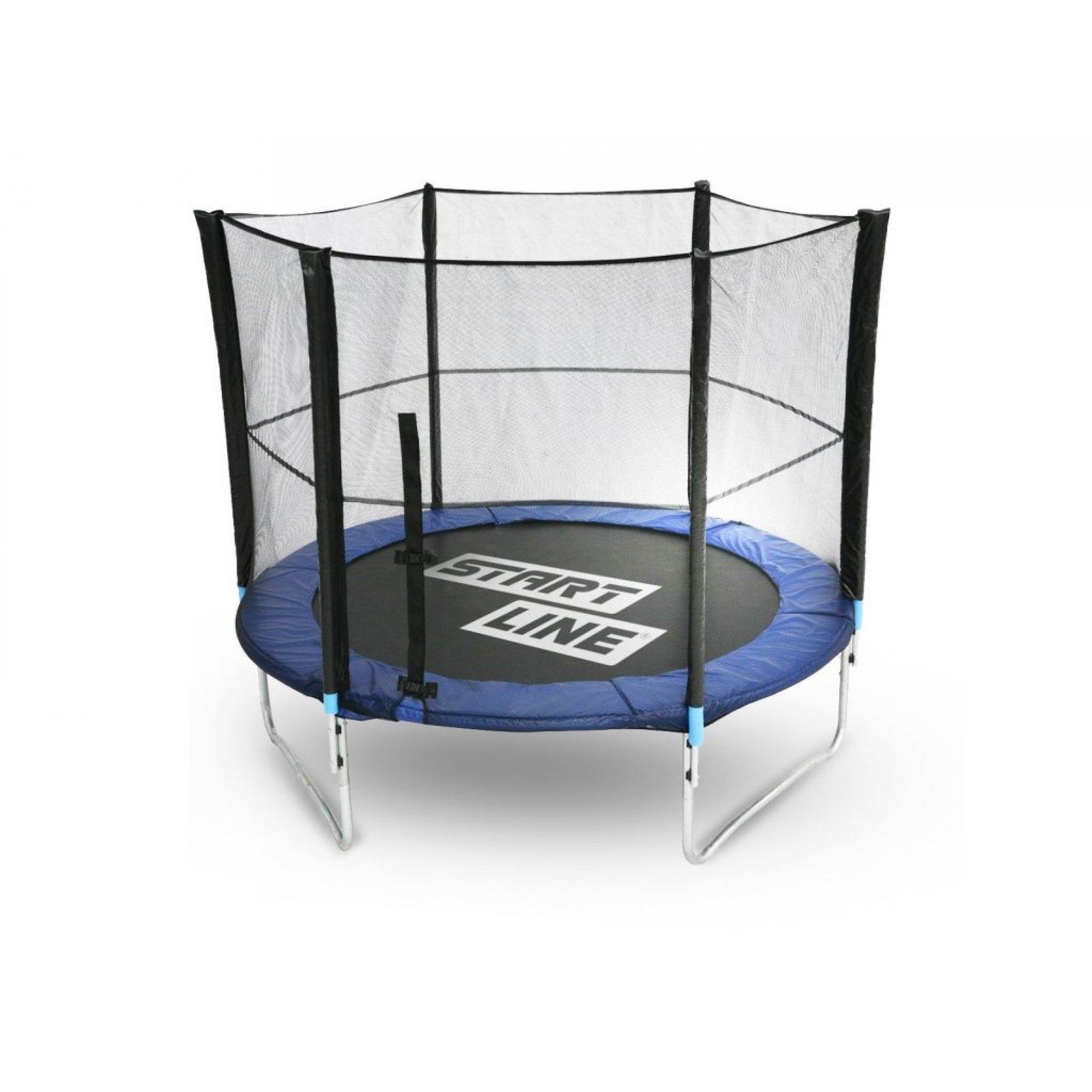 Батут StartLine Fitness 6 футов (183 см) с внешней сеткой