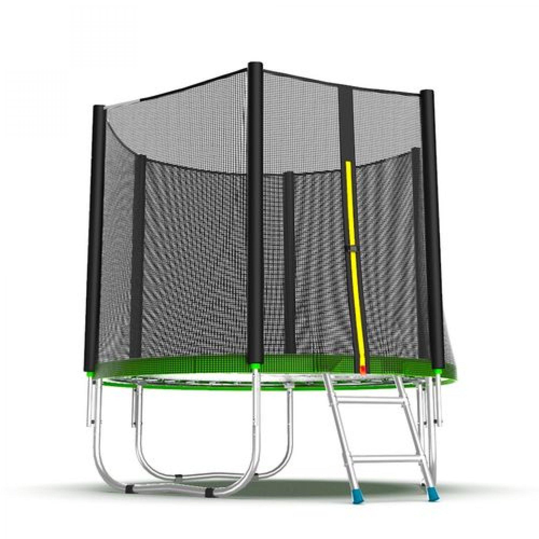 Батут EVO Jump External 6ft (Green) с внешней сеткой и лестницей
