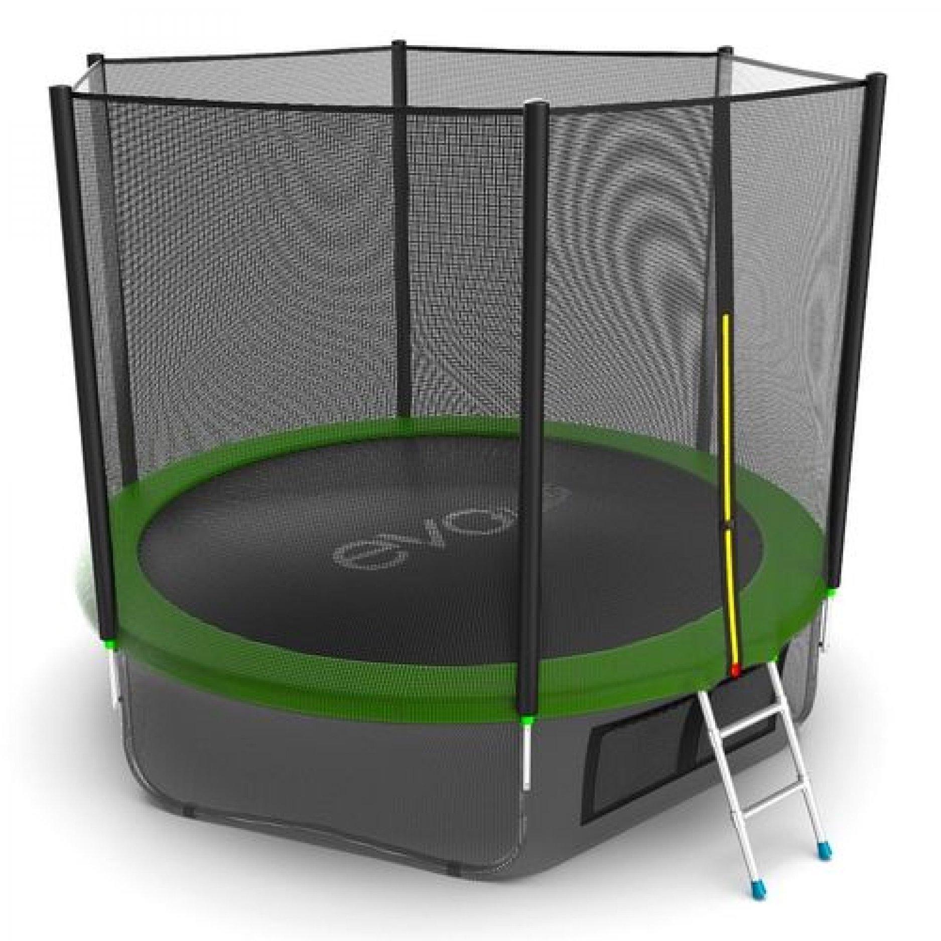 EVO Jump External 10ft (Green) + Lower Net с внешней сеткой и лестницей