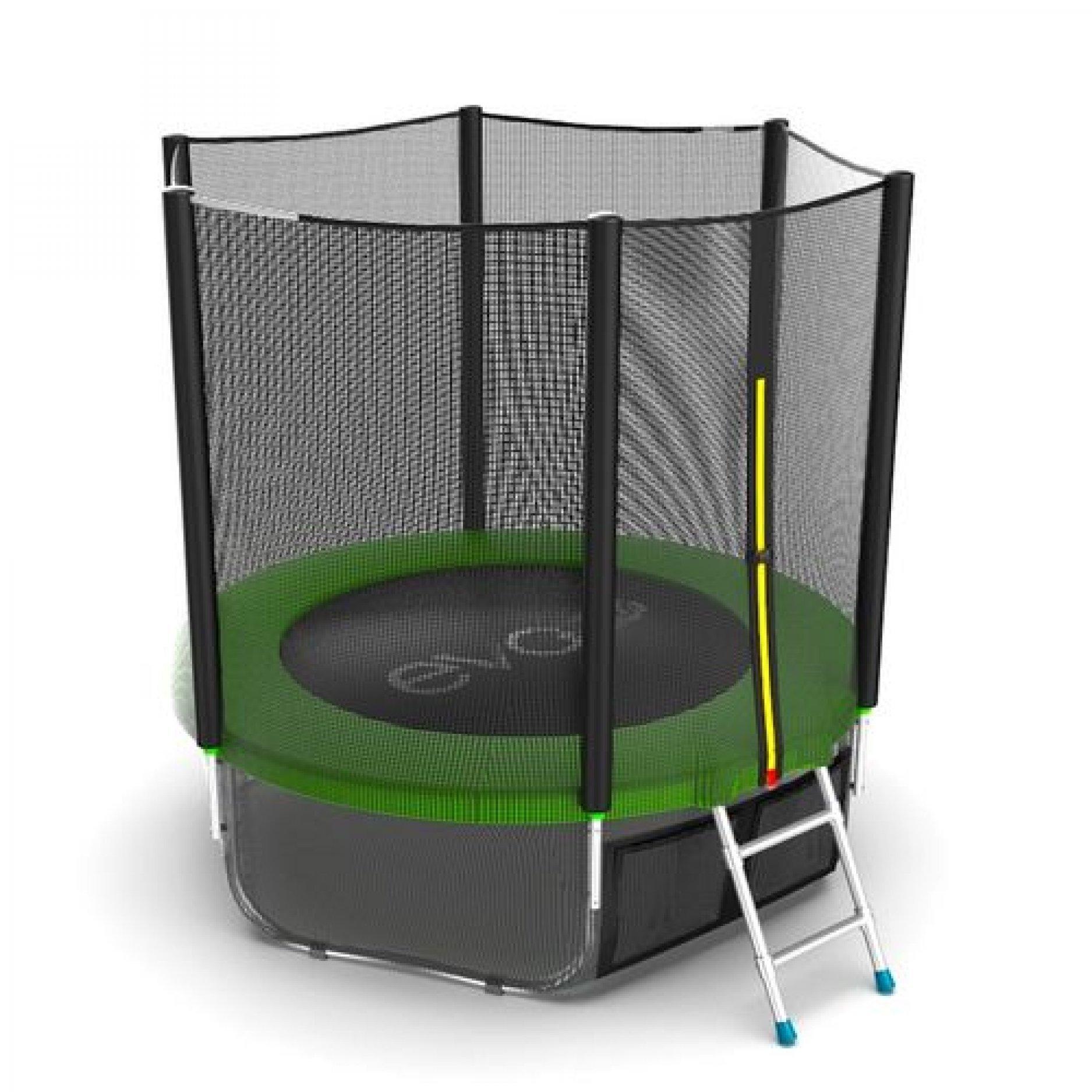 EVO Jump External 6ft (Green)+ Lower net с внешней сеткой и лестницей