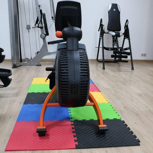 Маты - пазлы для фитнесса и тренажеров DFC 1 элемент Чёрный