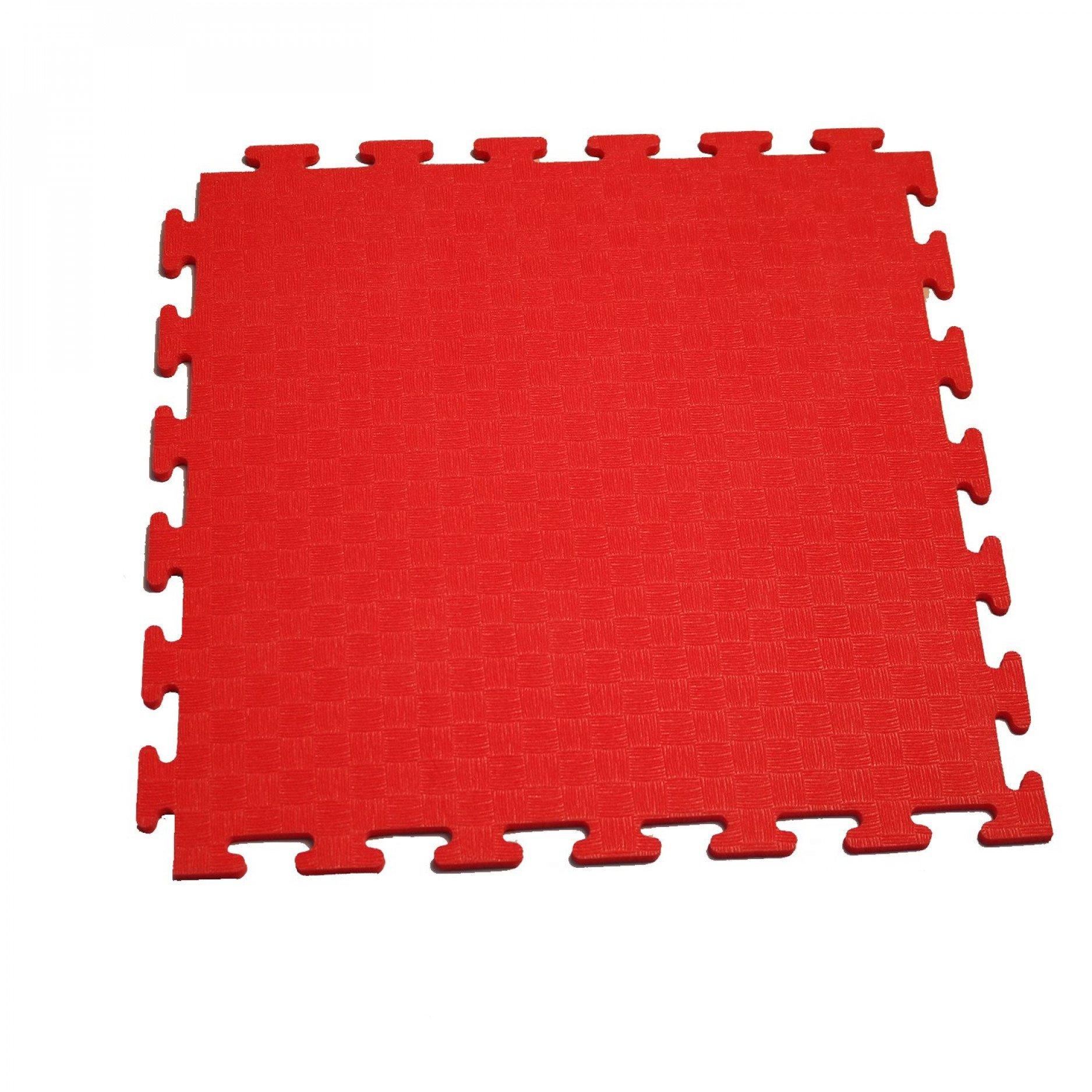 Маты - пазлы для фитнесса и тренажеров DFC 1 элемент Красный