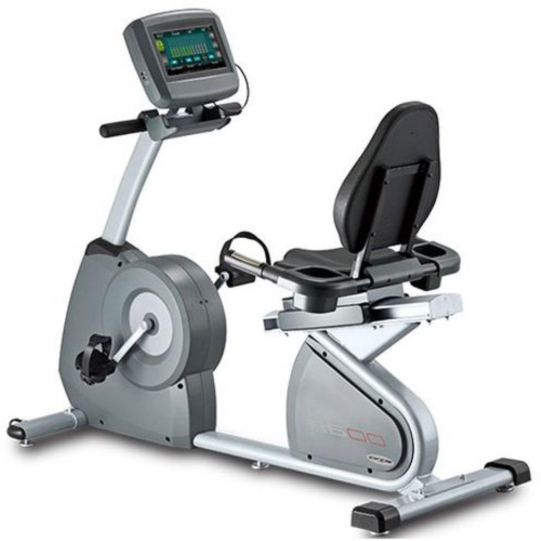 Горизонтальный велотренажер с TFT LCD дисплеем Circle Fitness R6 E