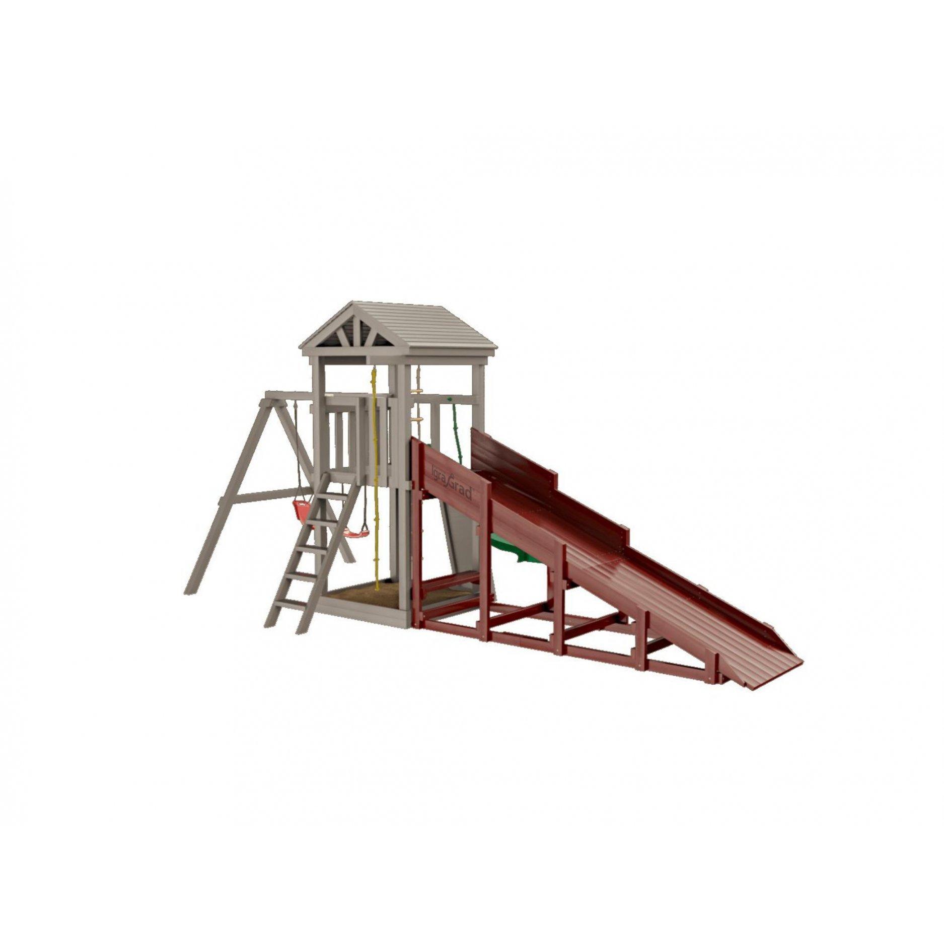 Модуль Snow Fox, скат 4 м для деревянных комплексов серии Classic