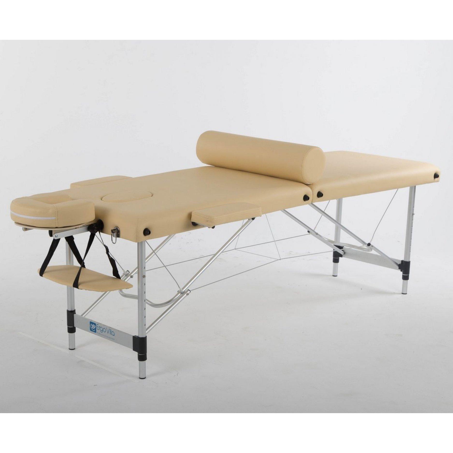 Складной массажный стол ErgoVita Classic Alu бежевый
