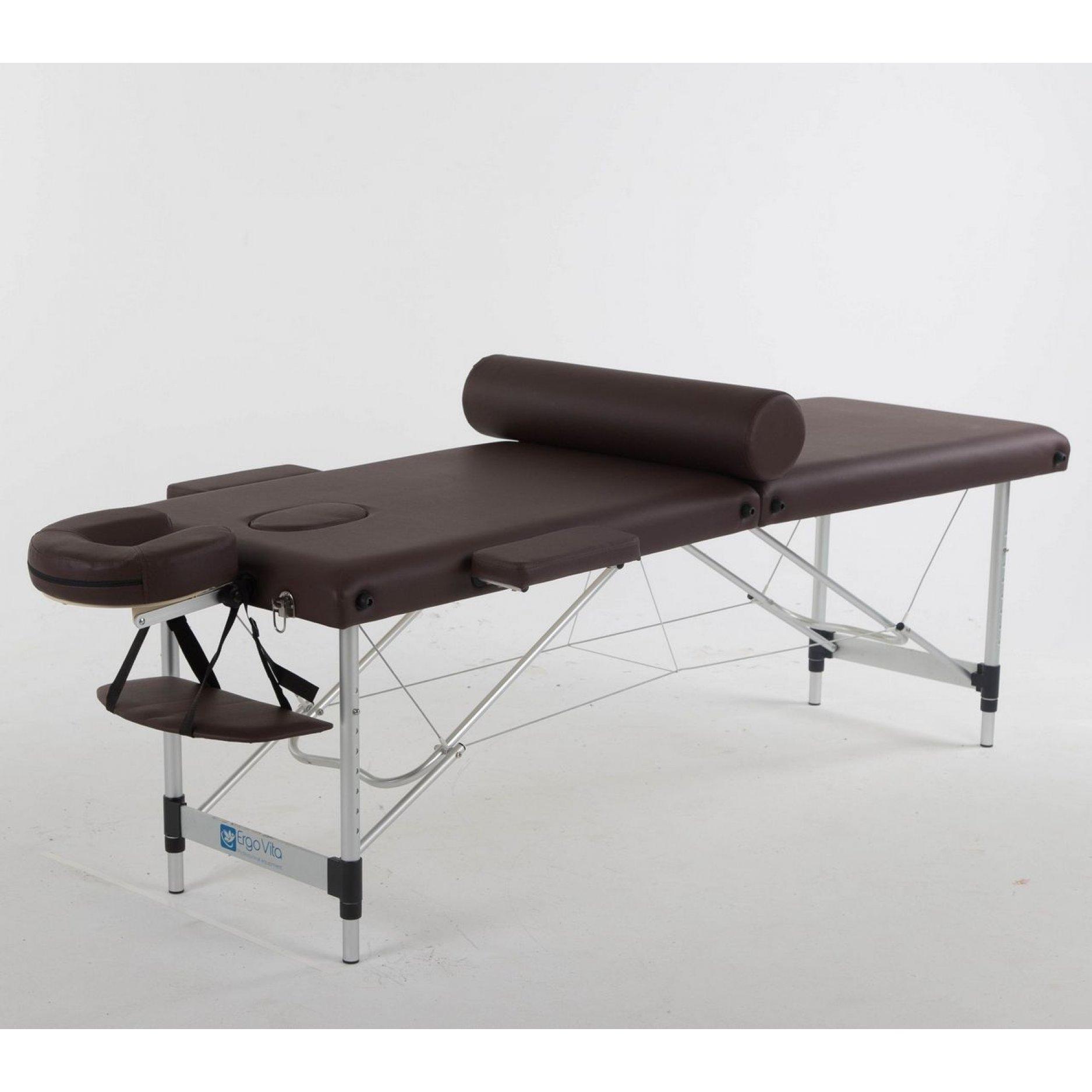 Складной массажный стол ErgoVita Classic Alu коричневый