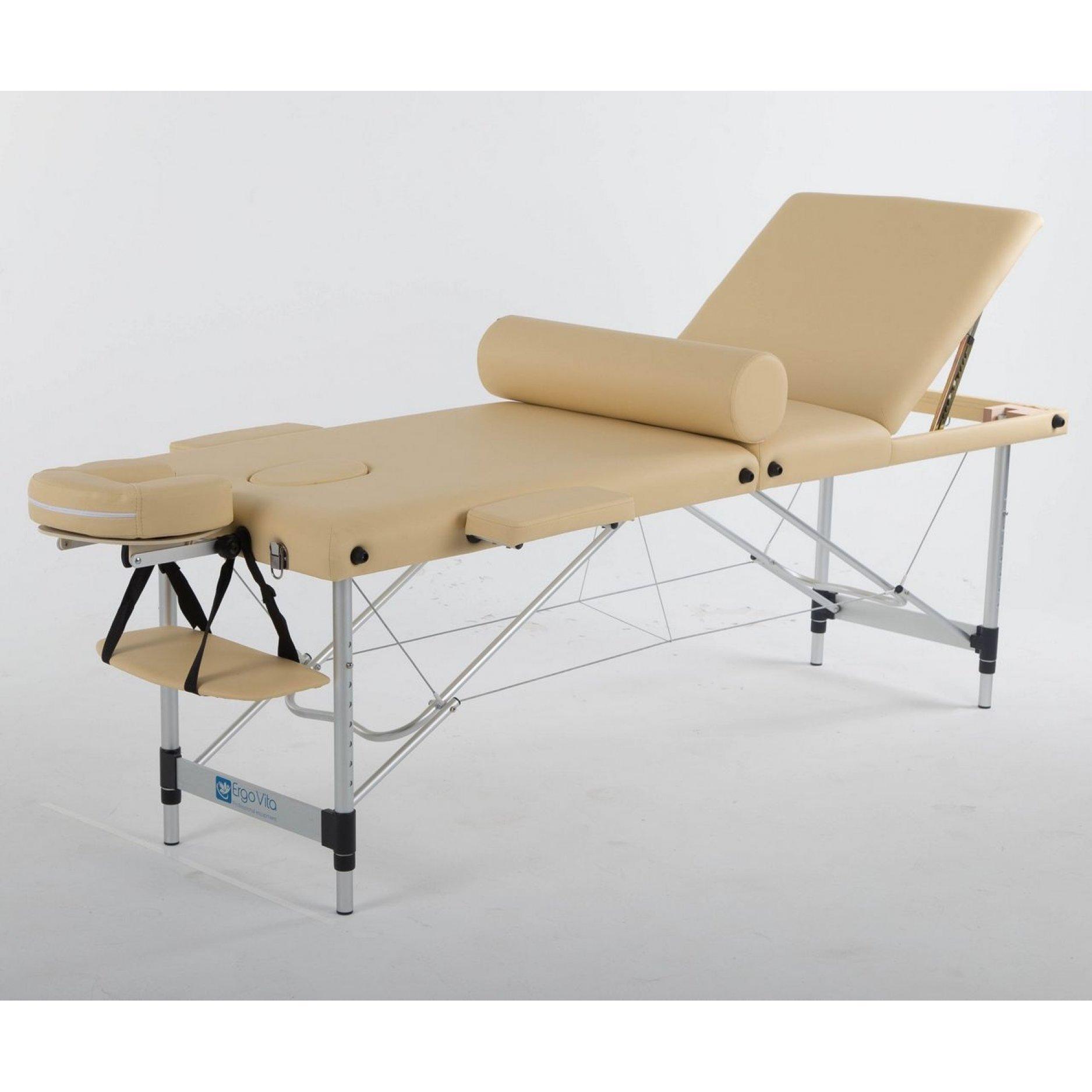 Складной массажный стол ErgoVita Classic Alu Plus бежевый