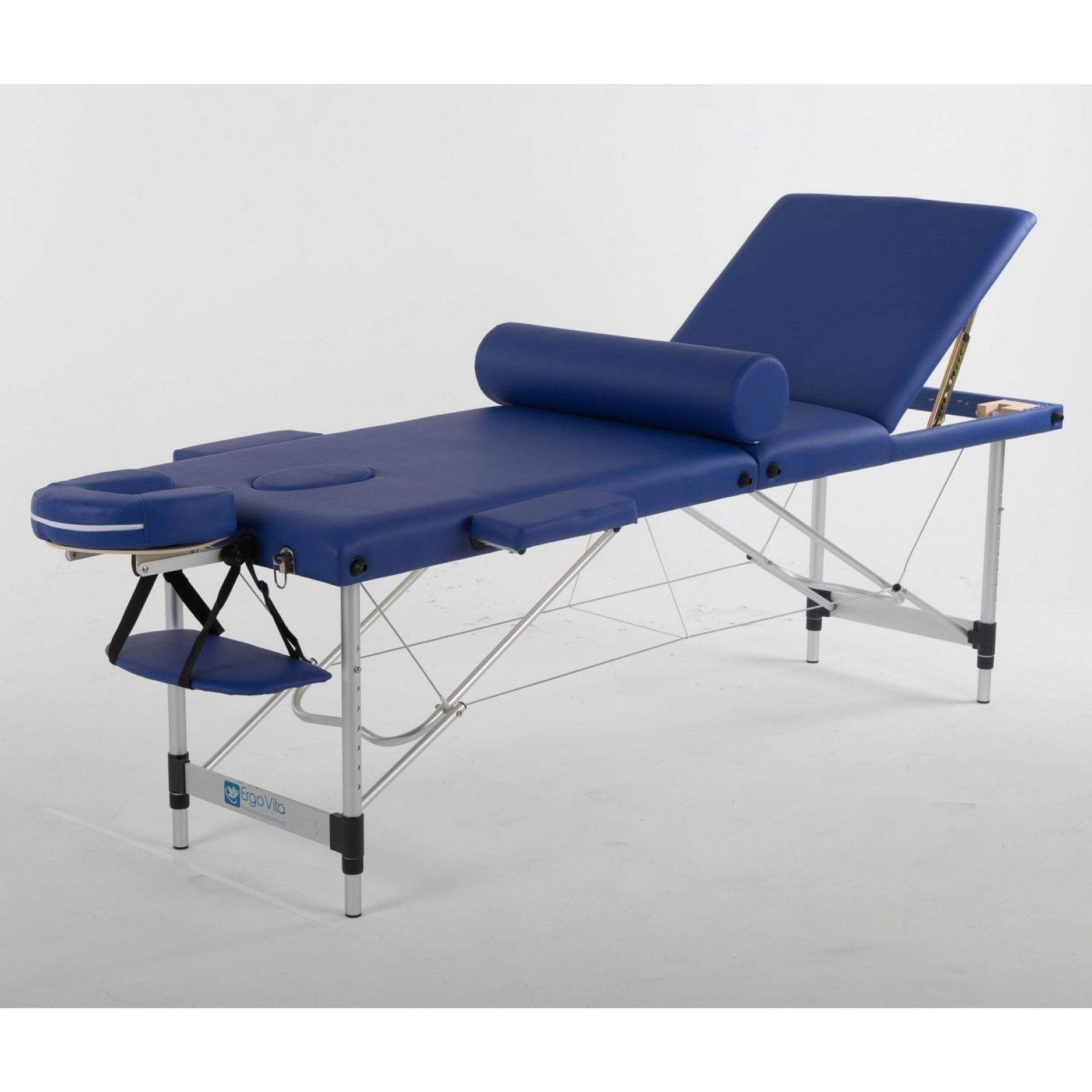 Складной массажный стол ErgoVita Classic Alu Plus синий