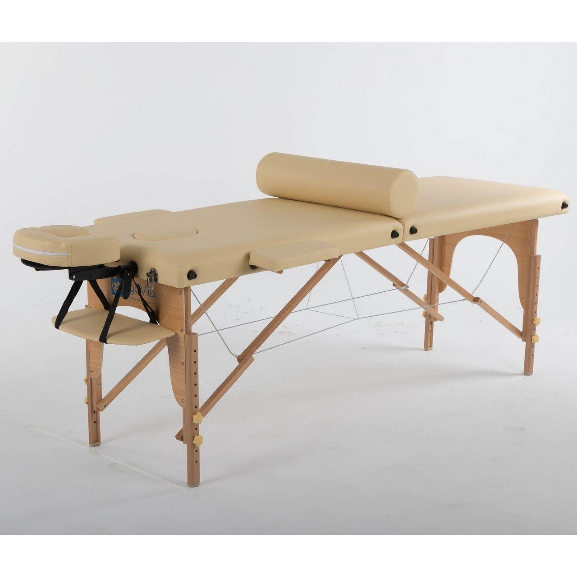 Складной массажный стол ErgoVita Classic бежевый