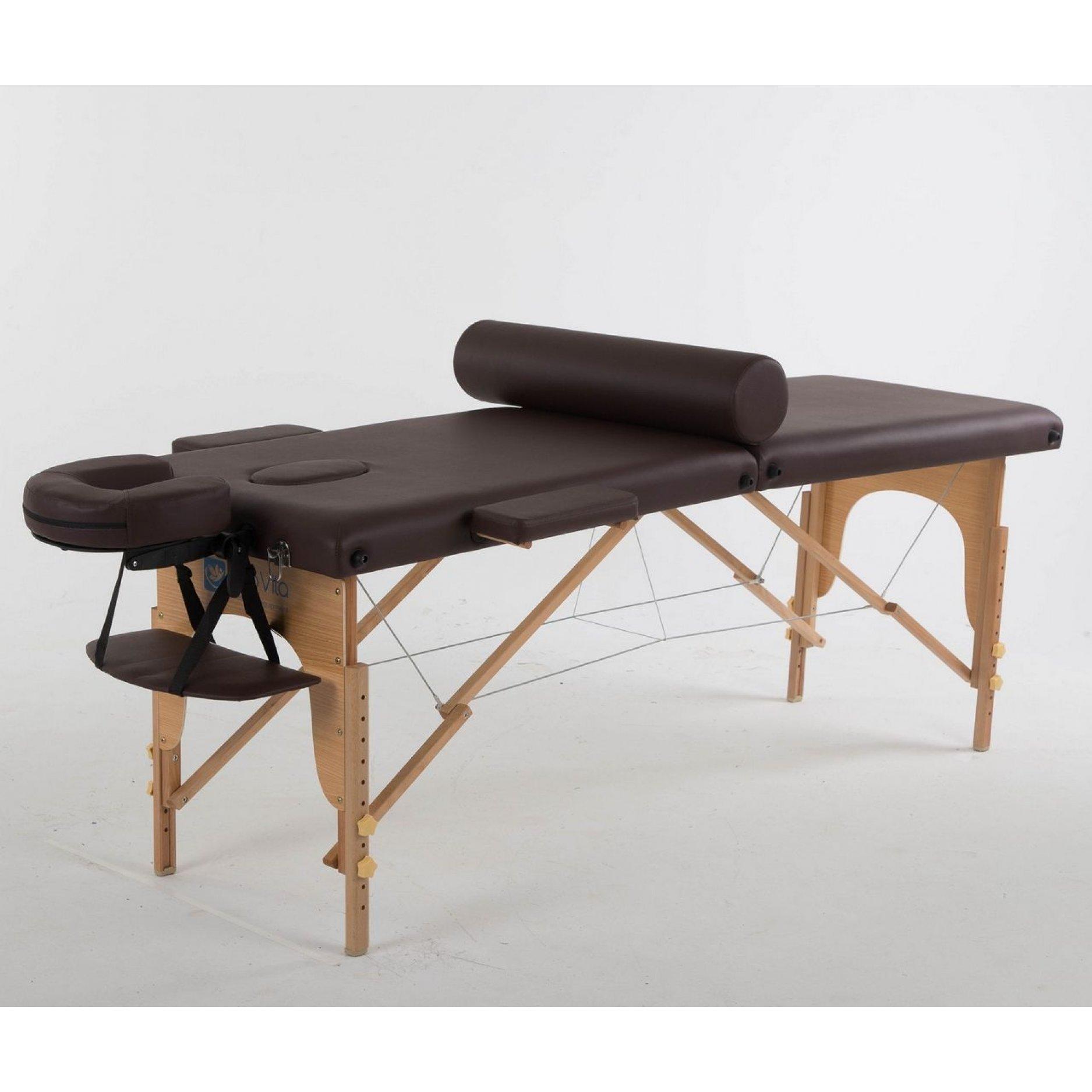 Складной массажный стол ErgoVita Classic коричневый