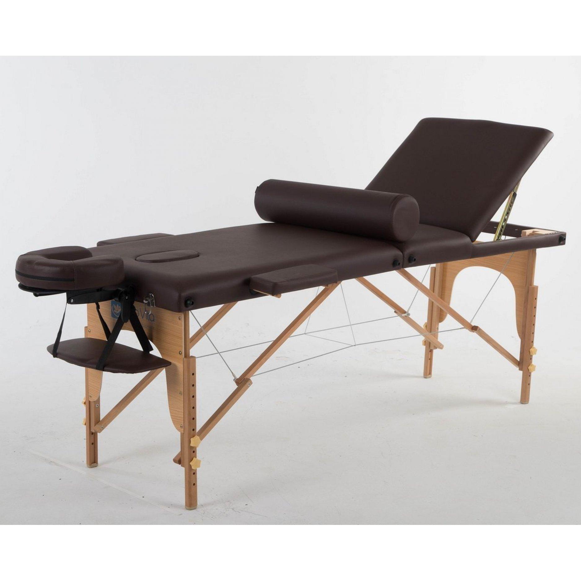 Складной массажный стол ErgoVita Classic Plus коричневый