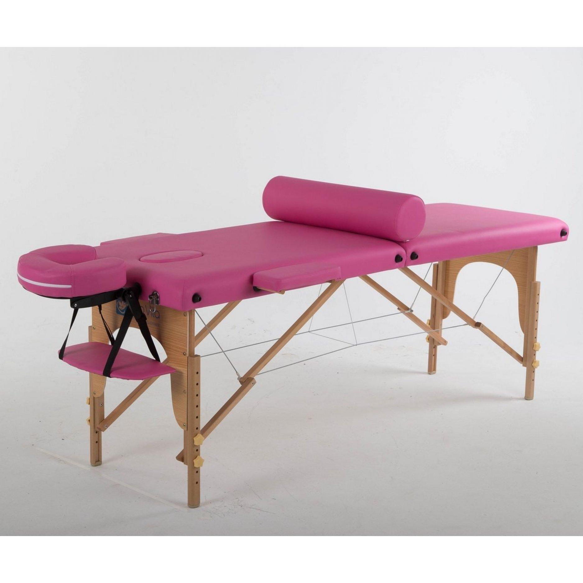 Складной массажный стол ErgoVita Classic розовый