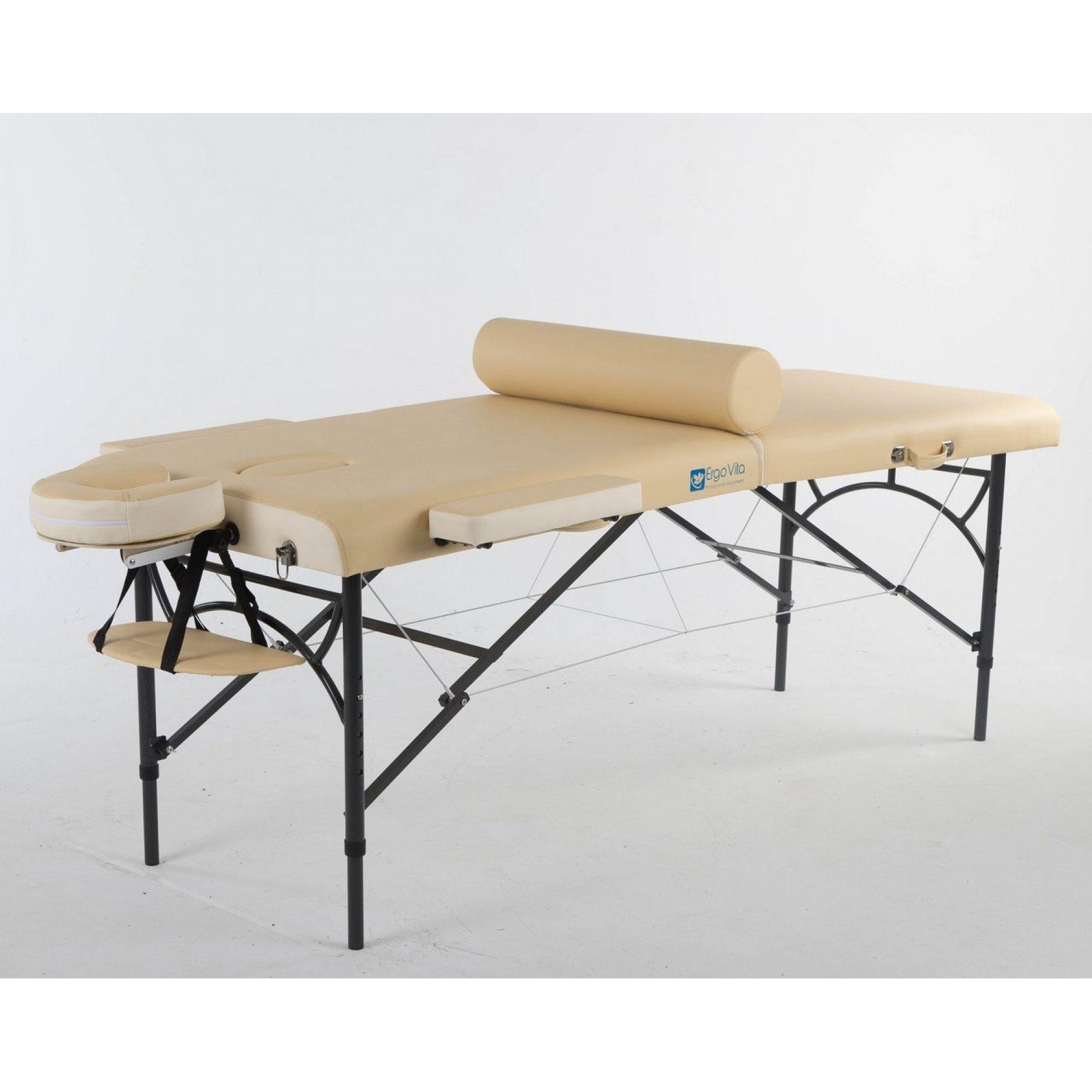 Складной массажный стол ErgoVita Master Alu Comfort бежевый+кремовый