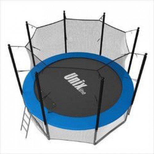Батут UNIX line 8 ft с внутренней сеткой (синий)