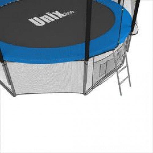 Батут UNIX line 8 ft с наружной сеткой (синий)