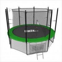 Батут UNIX line 8 ft с внутренней сеткой (зеленый)
